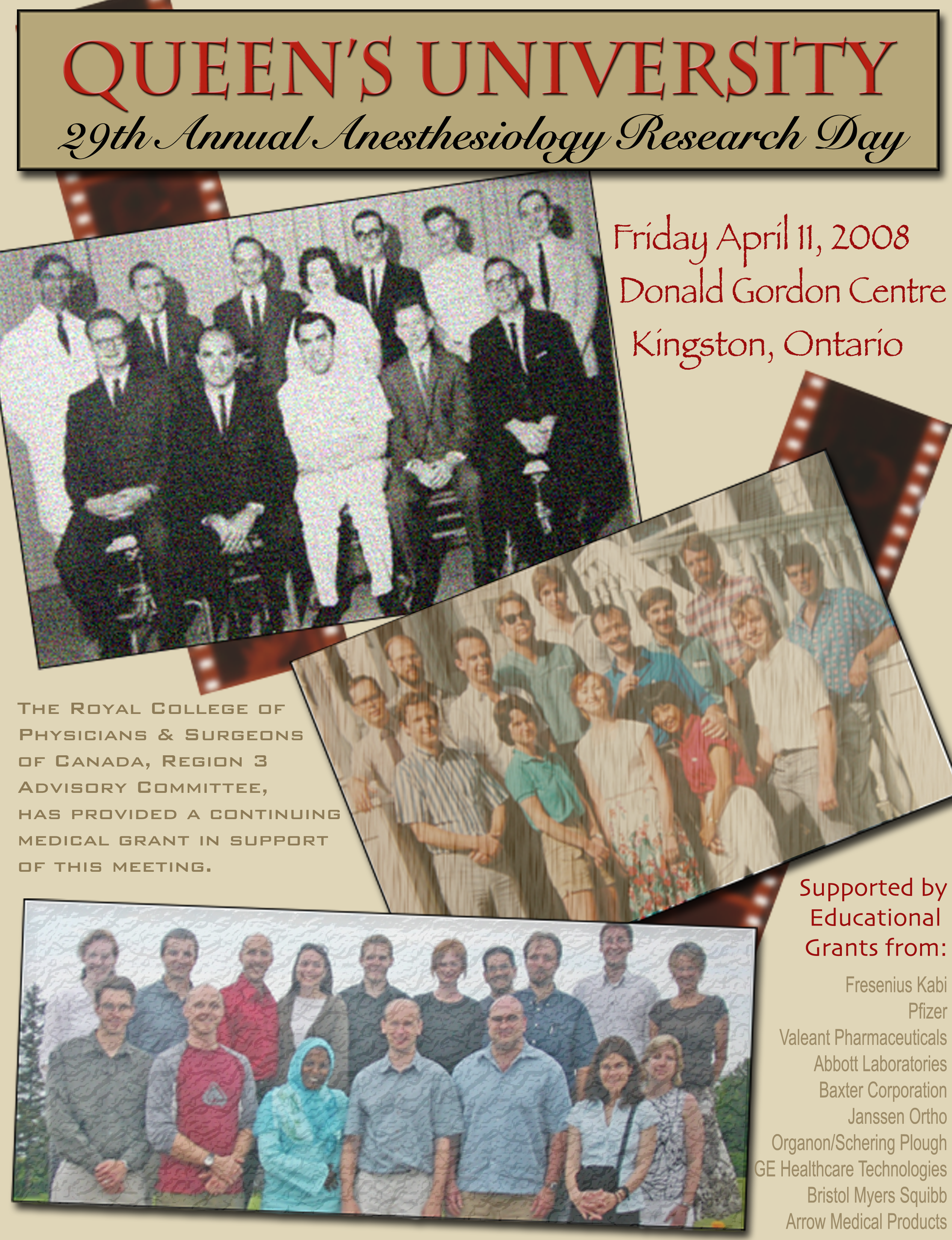 Queen's University 29th Annual Anesthesiology Research Day