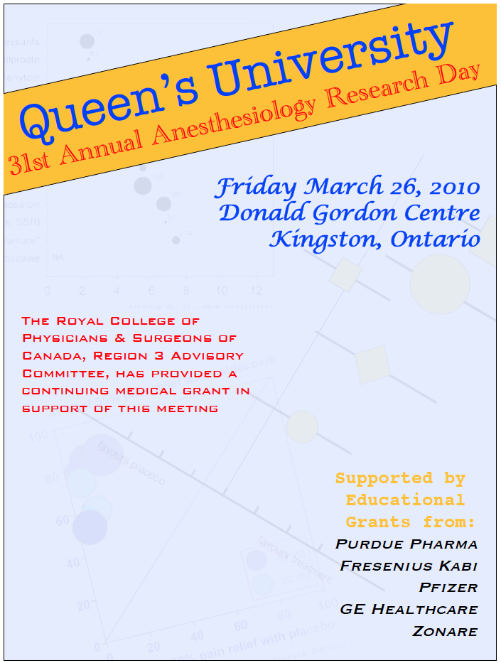Queen's University 31st Annual Anesthesiology Research Day