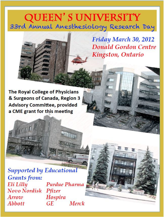 Queen's University 33rd Annual Anesthesiology Research Day