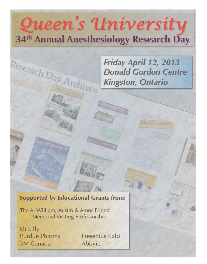 Queen's University 34th Annual Anesthesiology Research Day