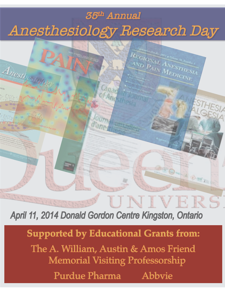 Queen's University 35th Annual Anesthesiology Research Day