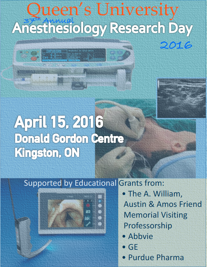 Queen's University 37th Annual Anesthesiology Research Day