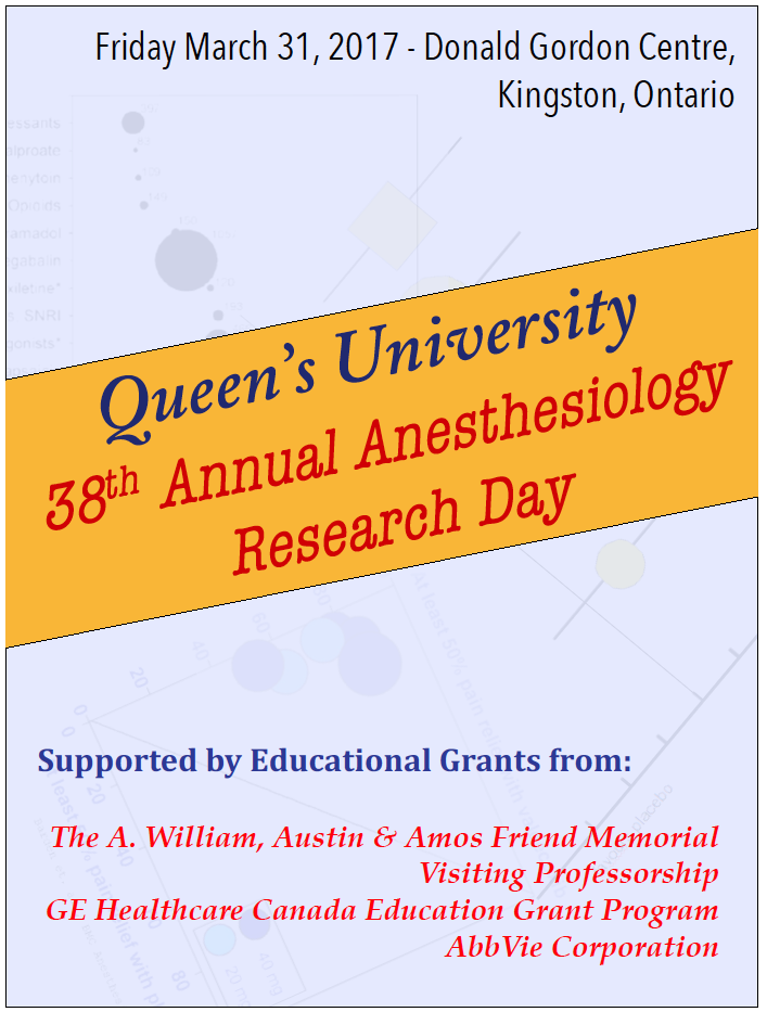 Queen's University 38th Annual Anesthesiology Research Day