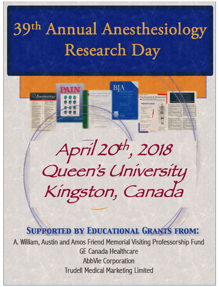 Queen's University 39th Annual Anesthesiology Research Day